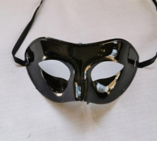 Black Plain Ventian Mask