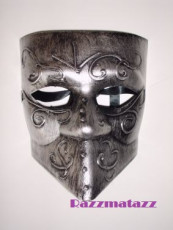 Venetian Mask with Beak Silver