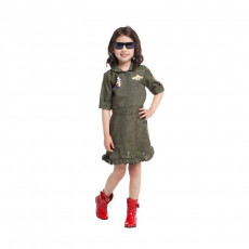 Girls Top Gun dress
