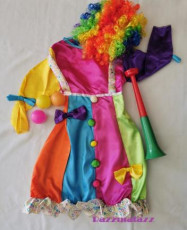 Girls ClownCostume