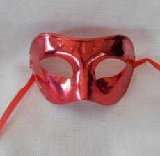 Red Plain Venetian Mask