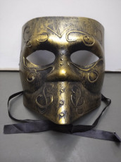 Venetian Mask with Beak Gold